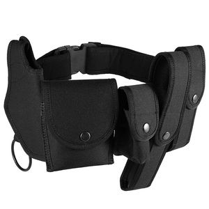 Tactical Belt with Pouches Holster Gear